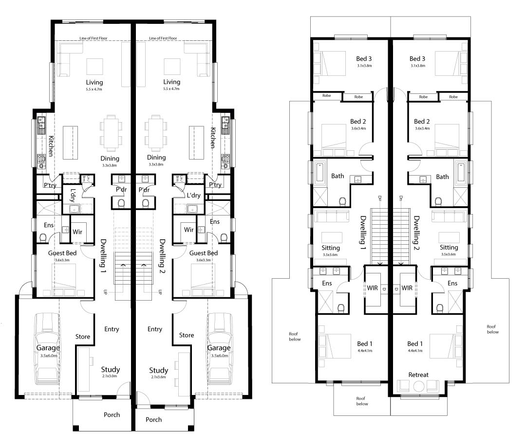 Mosaic floor plan
