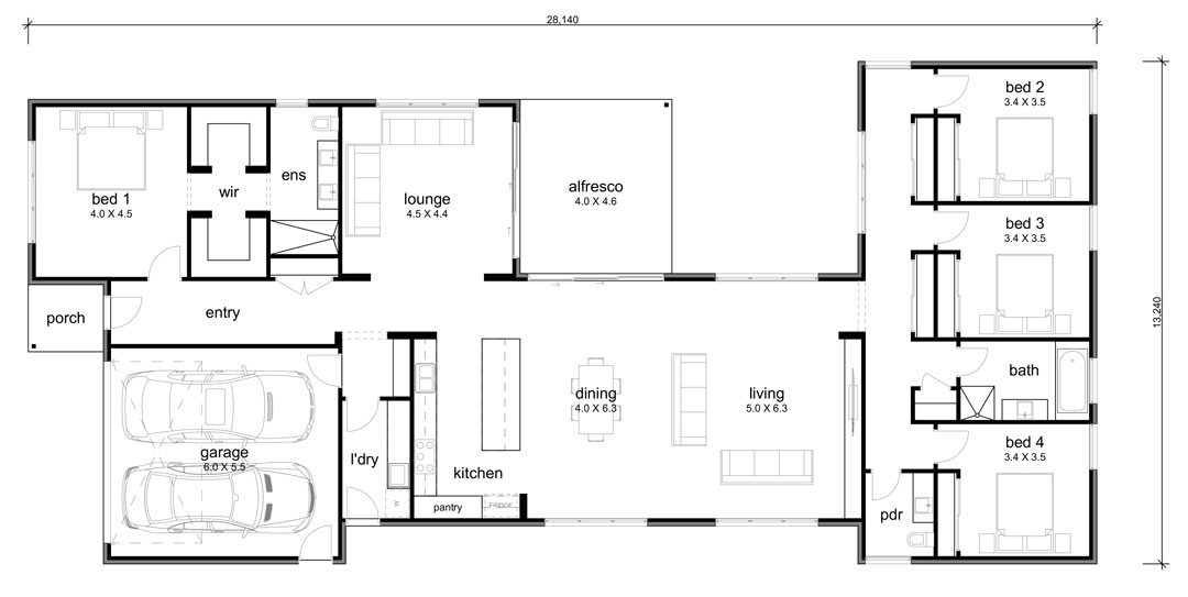 Design 003A by Hallbury Homes